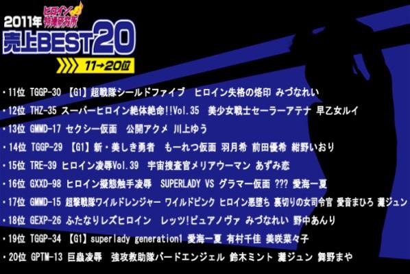 TDLN-142-Best-2020-11-Sales-Ranking-In-2011-Tokusatsu-Heroine-Institute-Aimi-Ichika-Haduki-Nozomi-Azumi-Ren-Arimura-Chika-Maeda-Yuki-Maino-Maya-Nonaka-Anri-Kawakami-Yuu-Saotome-Rui-Nada-Jun-Mitsuna-Rei-Suzuki-Minto-Aine-Mahiro-Bi